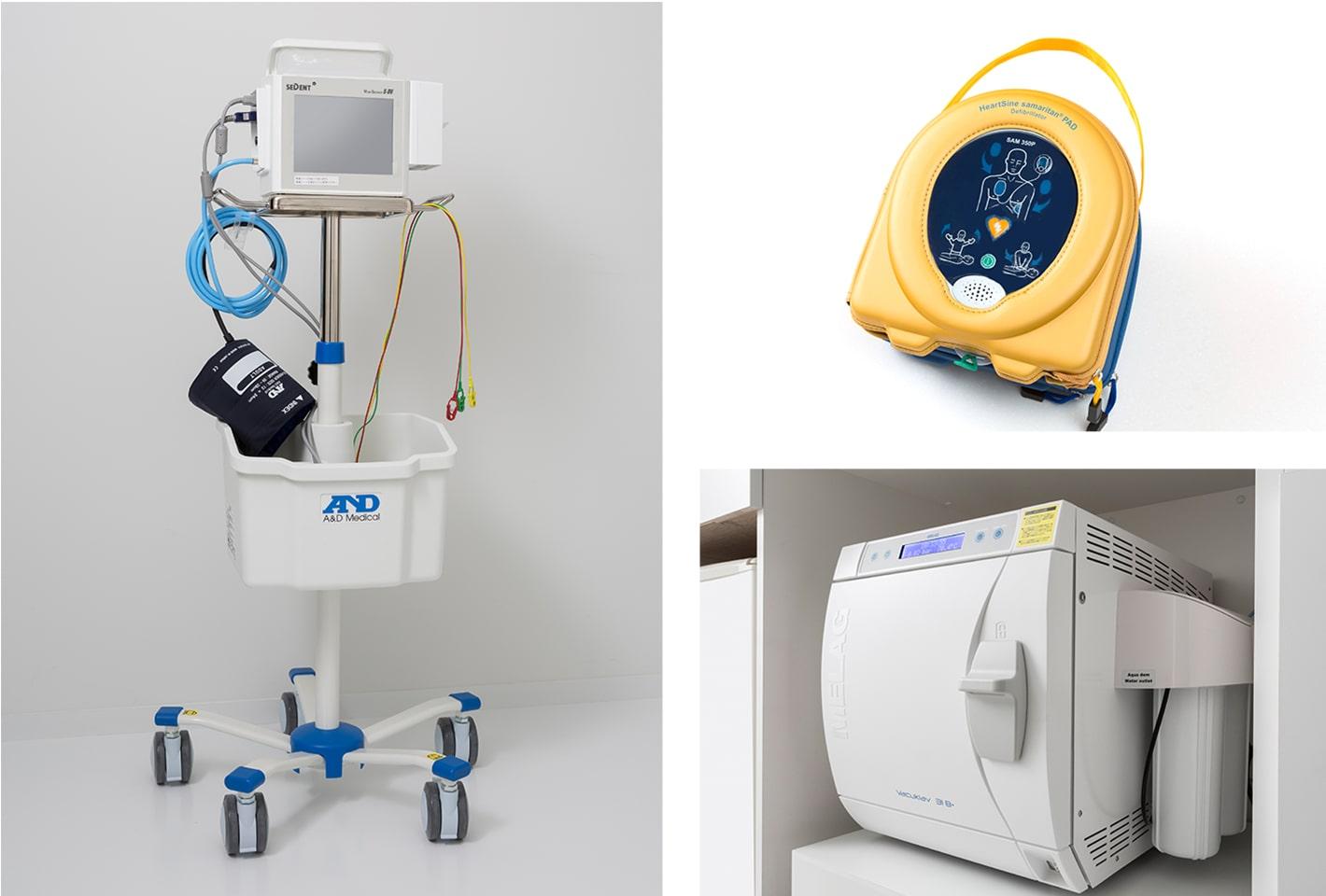 バイタルモニター・AED・滅菌機